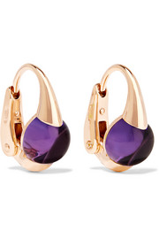 M'ama Non M'ama 18-karat rose gold amethyst earrings