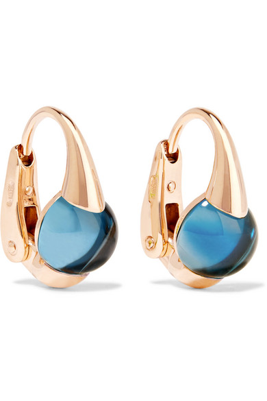 Pomellato - M'ama Non M'ama 18-karat Rose Gold Topaz Earrings