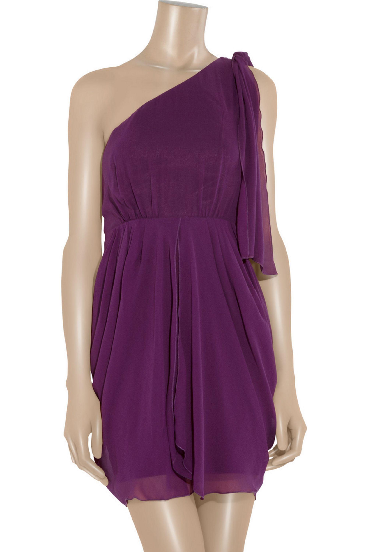 Alice + Olivia Kellye silk-crepe dress