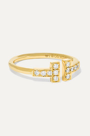 Tiffany & Co. T Wire Ring aus 18 Karat Gold mit Diamanten