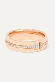 Tiffany & Co. Ring aus 18 Karat Roségold mit Diamanten