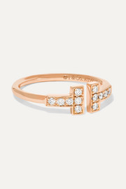 Tiffany & Co. T Wire Ring aus 18 Karat Roségold mit Diamanten