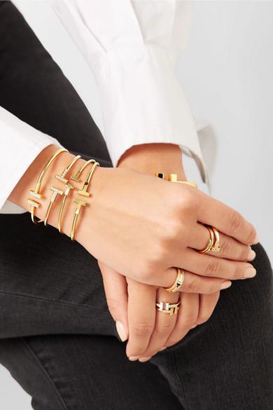 Tiffany Co T Wire 18 Karat Gold Cuff Net A Portercom