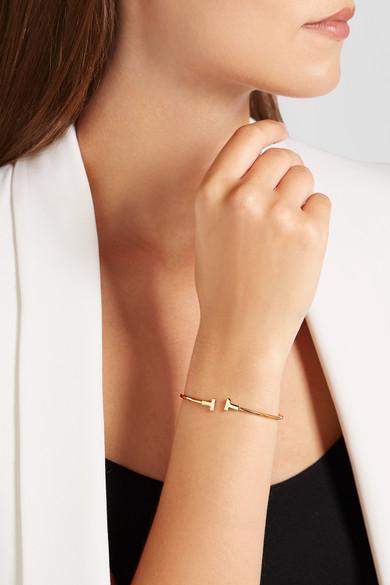 Tiffany & Co.   T Wire Narrow 18-karat rose gold cuff   NET-A-PORTER.COM
