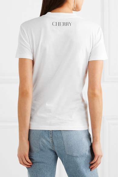 GANNI Harway bedrucktes T-Shirt aus Stretch-Baumwoll-Jersey