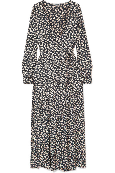 new styles lowest discount hot product Roseburg printed crepe de chine wrap dress