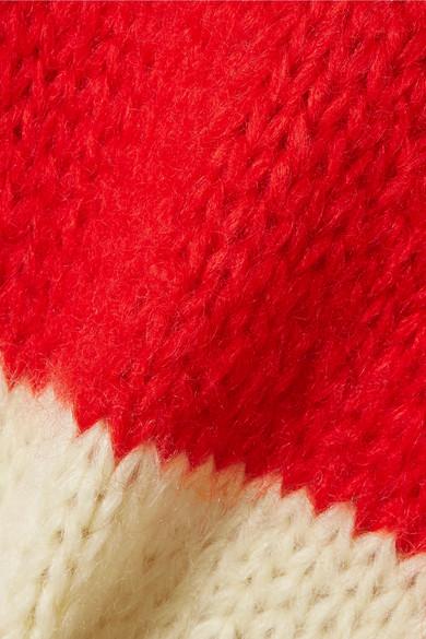 Rabatt Mode-Stil GANNI Julliard Pullover aus einer gestreiften Mohair-Wollmischung Billig Ausgezeichnet Steckdose Billigsten Billig Online-Shop Manchester YdXV0sU