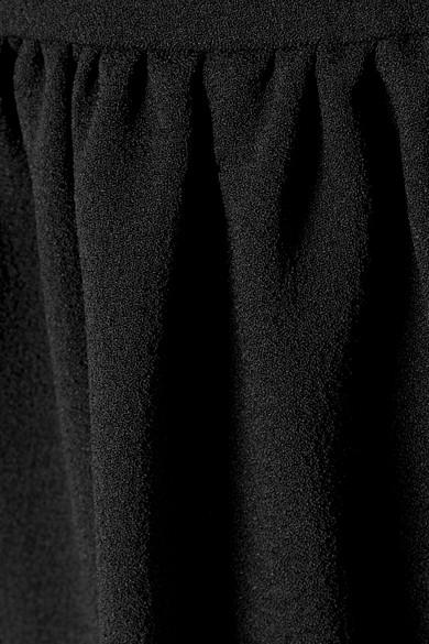 GANNI Clarke Minikleid aus Crêpe mit Rüschen