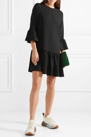 Clarke ruffled crepe mini dress
