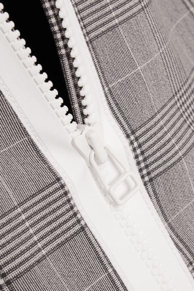 GANNI Kariertes Minikleid aus Stretch-Material