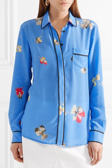 GANNI Joycedale Seidenhemd aus Crêpe de Chine mit floralem Print