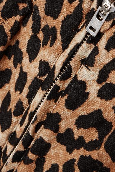 GANNI Camberwell Karottenhose aus Canvas aus einer Leinenmischung mit Leopardenprint