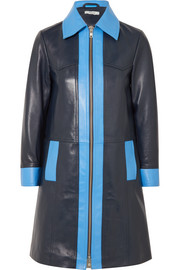 GANNI Passion two-tone leather coat
