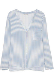 Sleep & Lounge striped voile pajama top