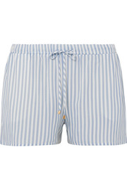 Sleep & Lounge striped voile pajama shorts