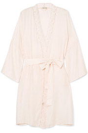Liane lace-trimmed jacquard robe