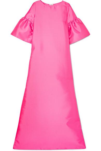 Reem Acra Robe aus Mikado-Seide