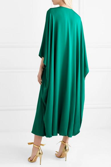 Reem Acra Drapierte Robe aus Seiden-Georgette