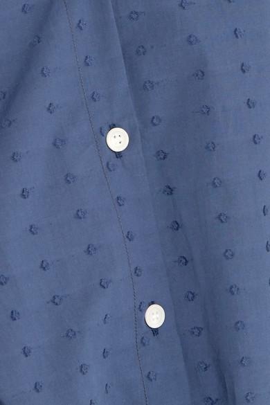 MDS Stripes Kleid aus Baumwolle mit eingewebten Punkten