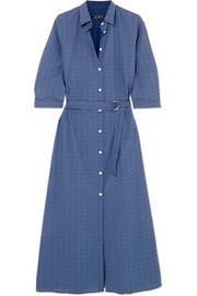 Swiss-dot cotton dress