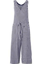 Amanda striped cotton-jersey jumpsuit