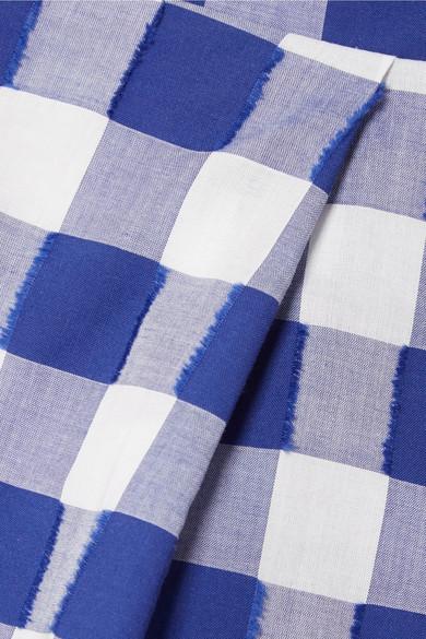 MDS Stripes Shorts aus Baumwolle mit Fil Coupé und Gingham-Karo