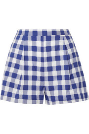 Gingham fil coupé cotton shorts