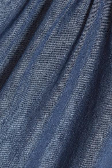 HATCH Katie Midikleid aus einer Baumwoll-Tencel®-Mischung