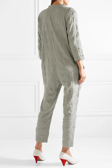 HATCH The Taylor Jumpsuit aus Gaze aus einer Baumwollmischung in Knitteroptik