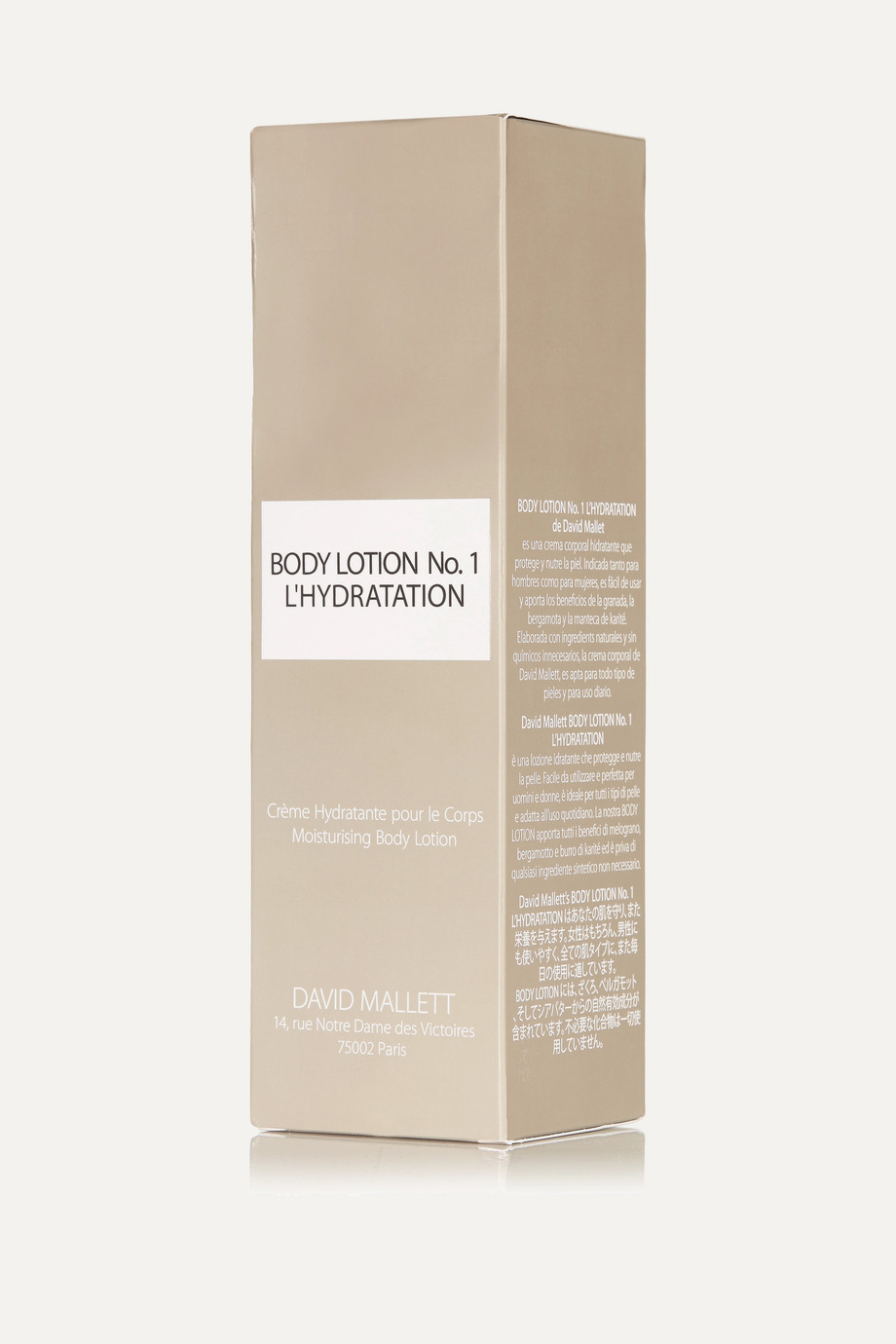 David Mallett Body Lotion No.1: L'Hydration, 250ml
