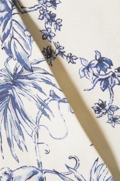 REDValentino Bedruckte Shorts aus Baumwoll-Canvas mit Wickeleffekt
