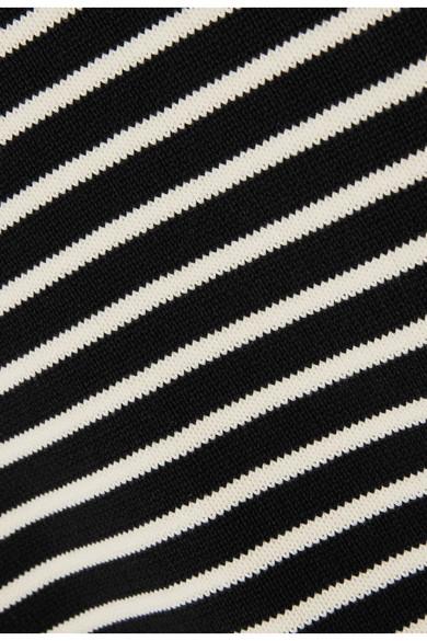 REDValentino Gestreifter Pullover aus Baumwolle mit seitlichem Bindedetail Konstrukteur Auslass Sneakernews Große Diskont Verkauf Online Billiger Preis Aussicht RQKS79y4x4