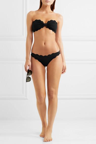 Marysia Antibes Bandeau-Bikini-Oberteil mit Wellenkanten