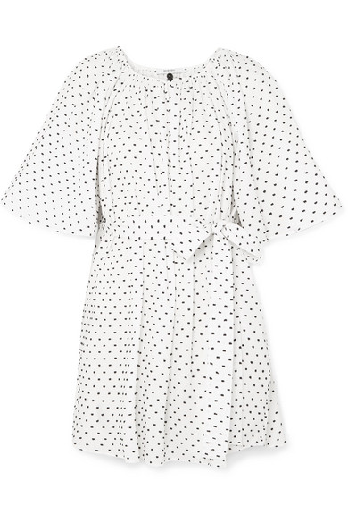Marysia Moonstone Mini Dress Made Of Cotton With Fil Coupe And Belt