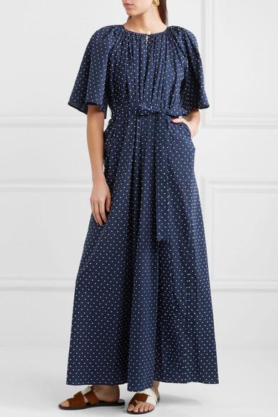 Marysia Moonstone Kleid aus bestickter Baumwoll-Voile