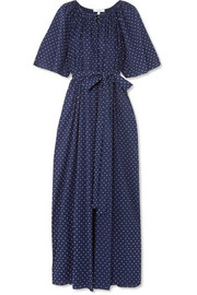 Marysia Moonstone embroidered cotton-voile dress