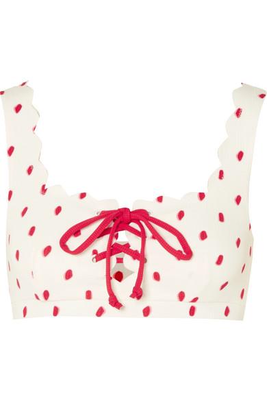 Marysia Palm Springs bedrucktes Bikini-Oberteil mit Wellenkante