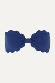 Antibes scalloped bandeau bikini top