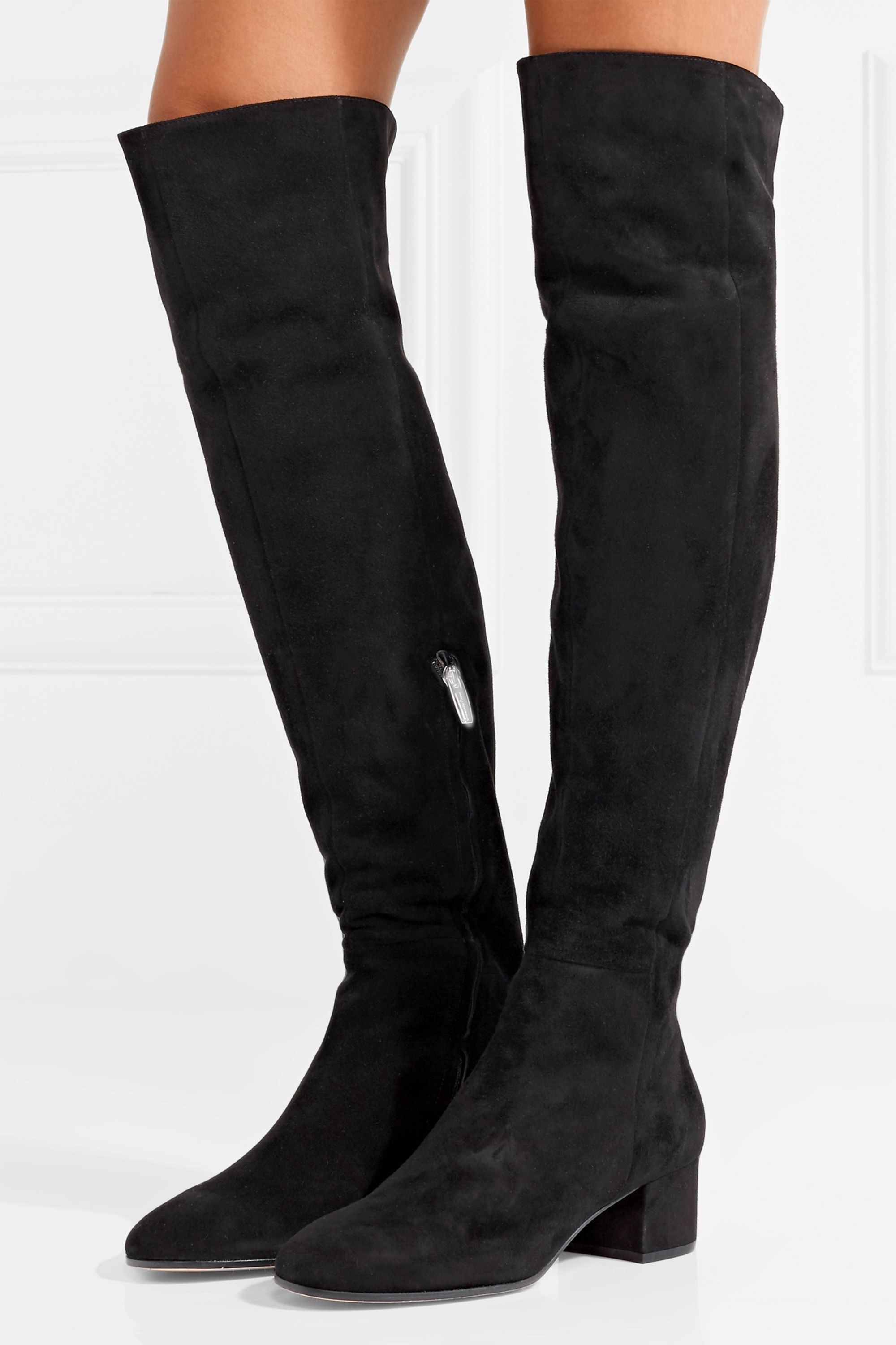 Black 45 suede over the knee boots