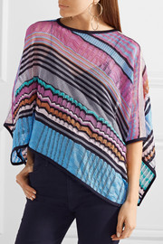 Missoni Crochet-knit poncho