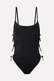 The Lily lace-up cutout swimsuit