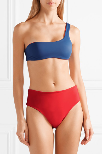 Solid & Striped The Isabeli Reversible Bikini With Asymmetric Shoulder Partie