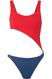 Solid and Striped The Jourdan cutout two-tone swimsuit