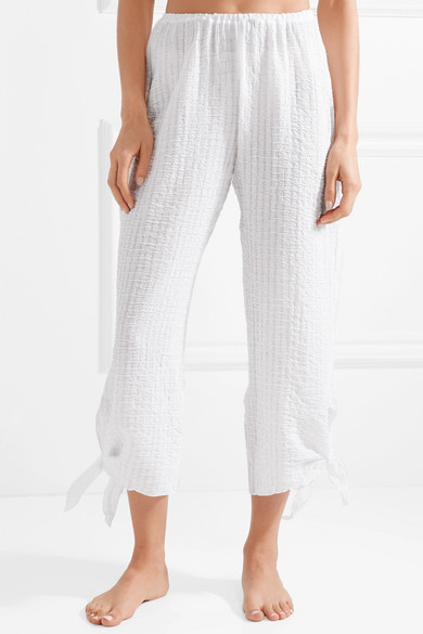 Best Wholesale Cheap Price Eberjey Paz Textured Cotton-gauze Pajama Pants Pay With Paypal Online e6ko71LdYQ