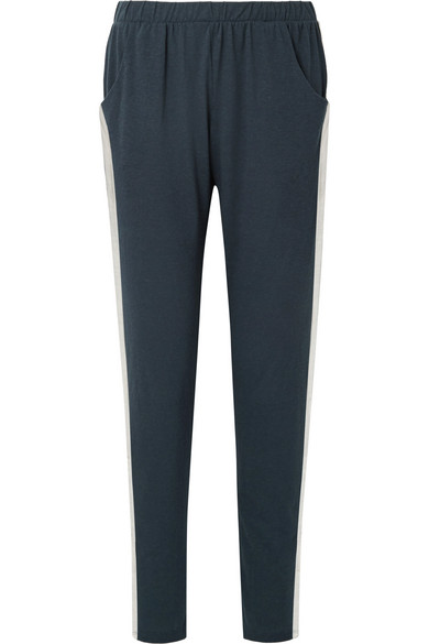 Heather Striped Jersey Pajama Pants by Eberjey