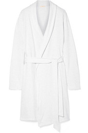 Leonor mélange cotton-blend jersey robe