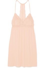 Esperanza Merry Me stretch-modal jersey and lace chemise