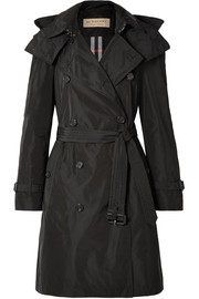 Burberry The Amberford hooded shell trench coat