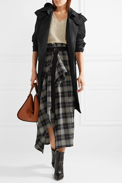 Burberry The Amberford Trenchcoat aus Shell mit Kapuze