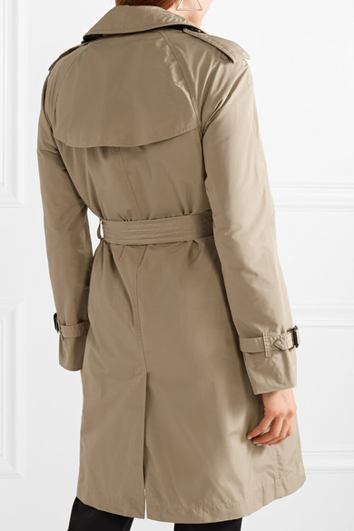 lowest price 6f058 2dfa7 Burberry | The Amberford Trenchcoat aus Shell mit Kapuze ...
